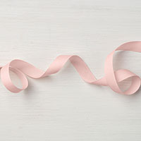 "Powder Pink 1/2"" Finely Woven Ribbon"