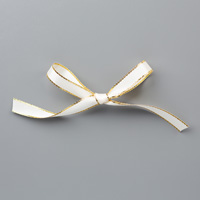 "Gold 3/8"" (1 cm) Metallic-Edge Ribbon"