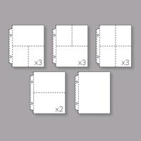 Assortiments de pages de classeur à pochettes photo