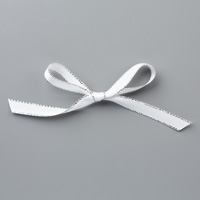"Silver 3/8"" Metallic-Edge Ribbon"