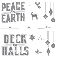 Carols Of Christmas Clear-Mount Stamp Set*
