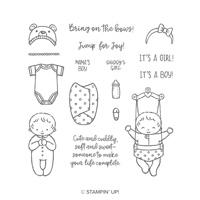 Sweet Baby Wood-Mount Stamp Set