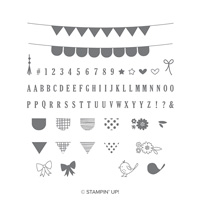Pick A Pennant Photopolymer Stamp Set
