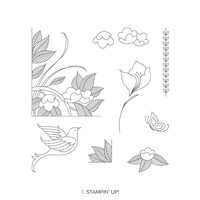 Serene Garden Photopolymer Stamp Set