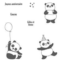 Set de tampons Pandas festifs