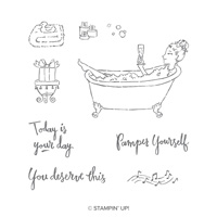 Bubbles & Bubbly Wood-Mount Stamp Set