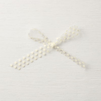 "Very Vanilla 5/8"" (1.6 cm) Polka Dot Tulle Ribbon"