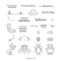 Wiggle Worm Photopolymer Stamp Set