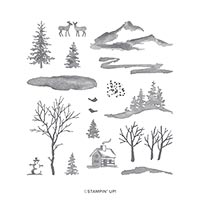 Snow Front Photopolymer Stamp Set