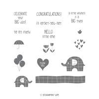 Little Elephant Cling-Mount Stamp Set
