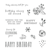 Perennial Birthday Cling-Mount Stamp Set