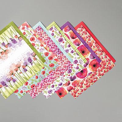 Peaceful Poppies Designer Series Paper