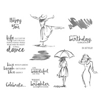 Beautiful You Cling-Mount Stamp Set