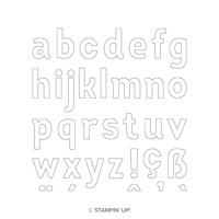 STEMPELSET KLARSICHT LINED ALPHABET ENGLISCH