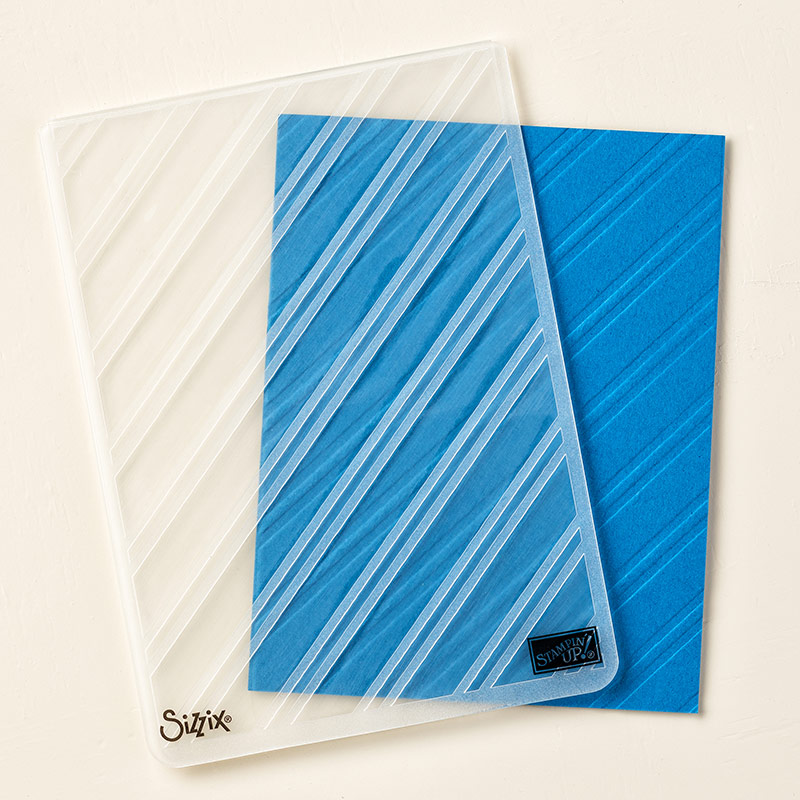 Stylish Stripes Embossing Folder
