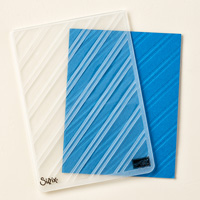 Stylish Stripes Impressions texturées Embossing Folder par Stampin 'Up!