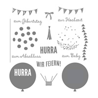 Wir Feiern Photopolymer Stamp Set (allemand)