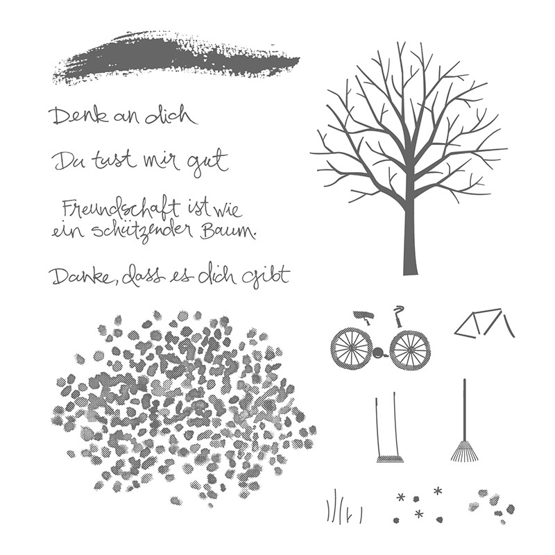 Baum Der Freundschaft Photopolymer Stamp Set (German)