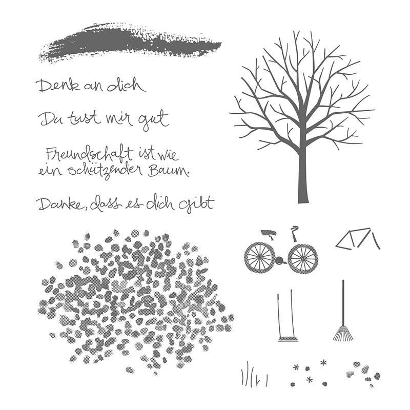 Baum Der Freundschaft Photopolymer Stamp Set (German)