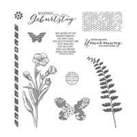 Schmetterlingsgruß Photopolymer Stamp Set (German)