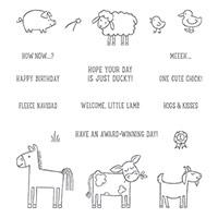 Barnyard Babies Clear-Mount Stamp Set