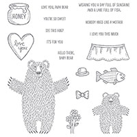 Ensemble de timbres Bear-Hugs Clear-Mount