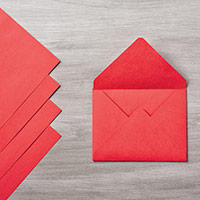 Real Enveloppe rouge par Stampin 'Up!
