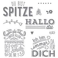 Unter Freunden Clear-Mount Stamp Set (German)