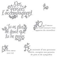 Des Adieux Du Fond Du Cœur Photopolymer Stamp Set (French)