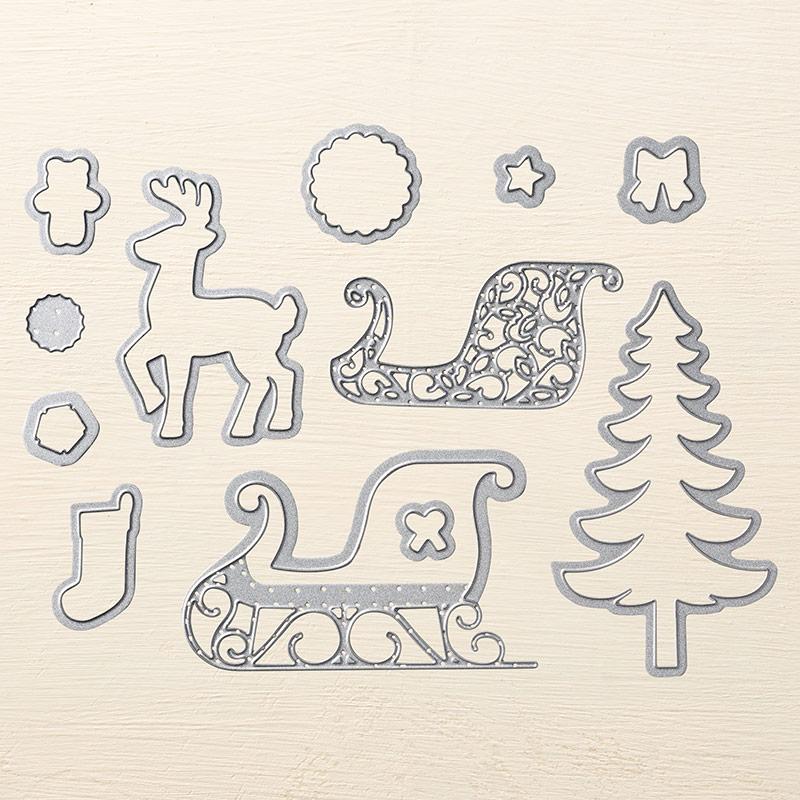 Thinlits 140278 Weihnachtsschlitten Image
