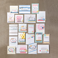 Kit de cartes de souhaits d'aquarelle