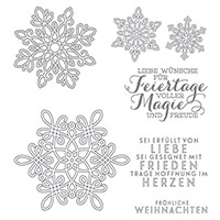 Flockenzauber Photopolymer Stamp Set (German)