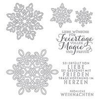 Flockenzauber Photopolymer Stamp Set (German)