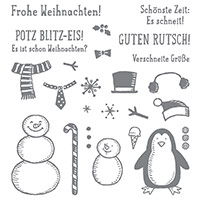 Es schneit! Photopolymer Stamp Set (German)