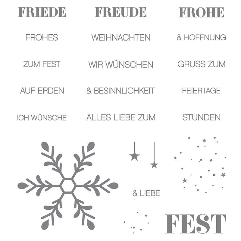 Winterliche Weihnachtsgrüße Clear-Mount Stamp Set (German)