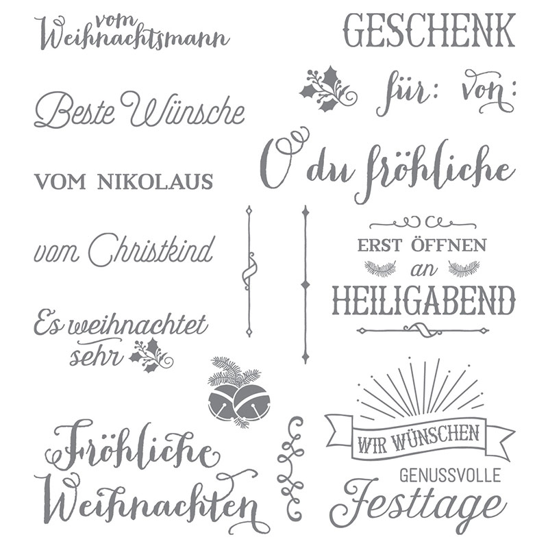 Fröhliche Weihnachten Photopolymer Stamp Set (German) by