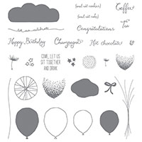 Célébration Balloon photopolymère Stamp Set