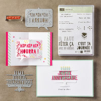 Faut fêter ça Clear-Mount Bundle (French) by Stampin' Up!