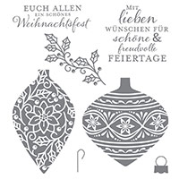 Zauberhafte Zierde Clear-Mount Stamp Set (German)