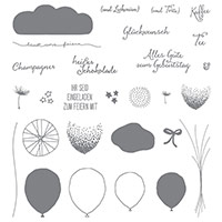 Partyballons Photopolymer Stamp Set (German)