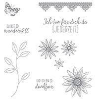 Donc set de timbres photopolymères dankbar (allemand)