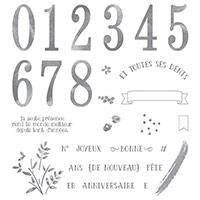 Au Fil Des Ans Photopolymer Stamp Set (French)