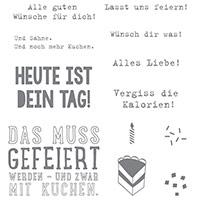 Kein Geburtstag ohne Kuchen Clear-Mount Stamp Set (German)