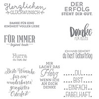 Wunderbare Worte Clear-Mount Stamp Set (allemand)