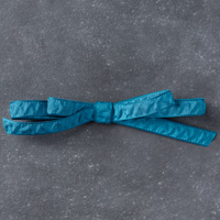 Dapper Denim 3/8 (1 cm) Ruched Ribbon