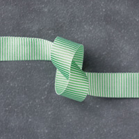 "Cucumber Crush 5/8"" (1.6 cm) Mini Striped Ribbon"
