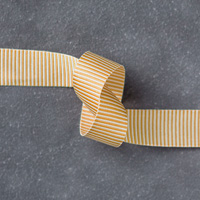 "Delightful Dijon 5/8"" (1.6 Cm) Mini Striped Ribbon"