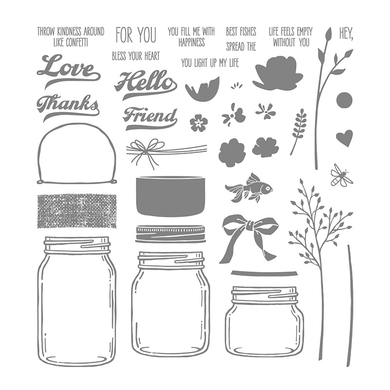 Jar Of Love Photopolymer Stamp Set By Stampin Up