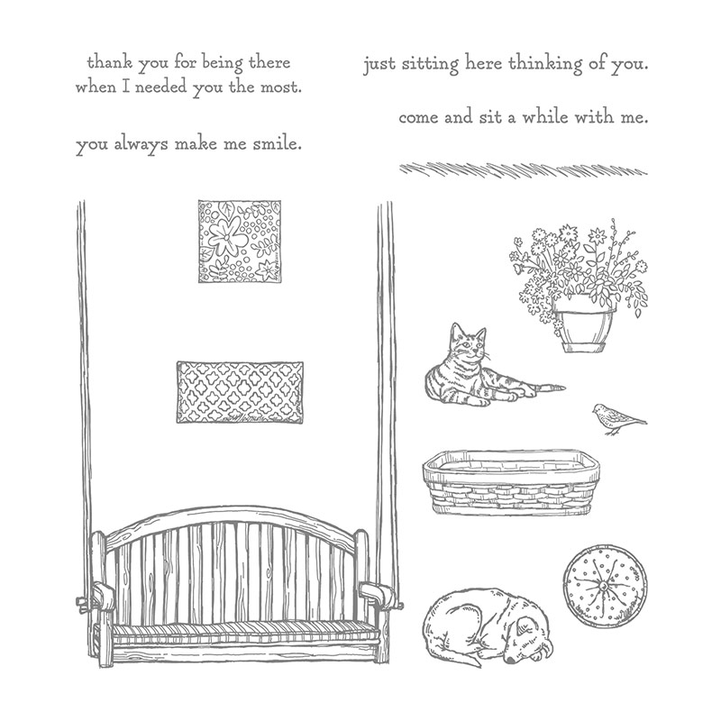 Sitting Here Photopolymer Stamp Set By Stampin Up