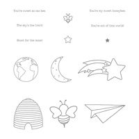 Shooting Star Wood-Mount Stamp Set